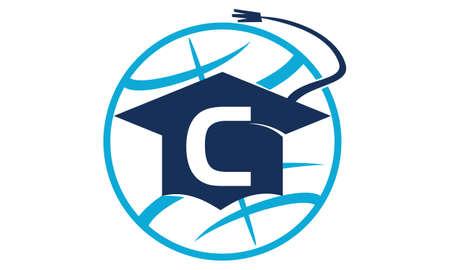 initial cap: World Education Letter C Illustration