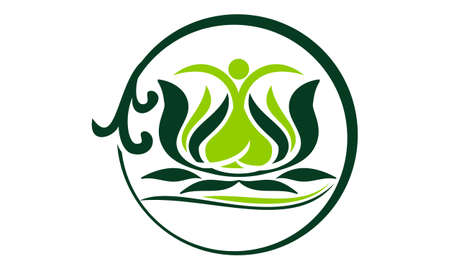 Health Life Spa and yoga Illustration