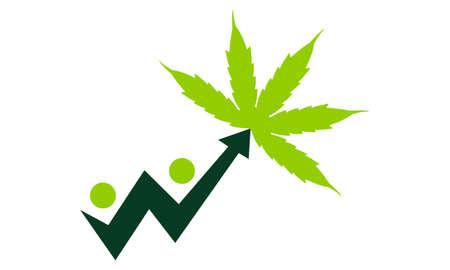 business graphics: leaf and Upward Arrow