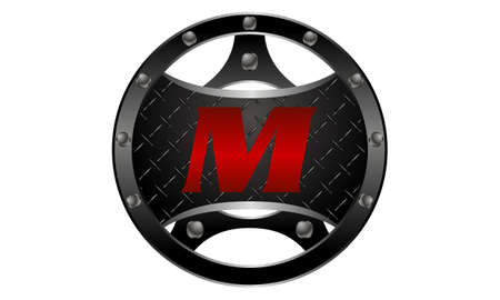 health and fitness: Mixed Martial Arts letter M Illustration