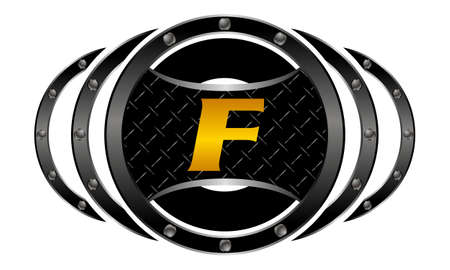 Mixed Martial Arts letter F Illustration
