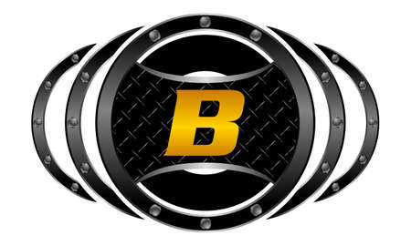 health and fitness: Mixed Martial Arts letter B Illustration