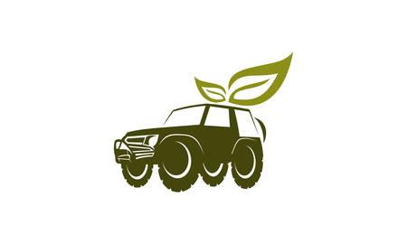 offroad car: Adventure Car Leaf Energy Illustration