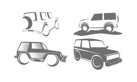 Adventure Car Bundle Collection Set Illustration