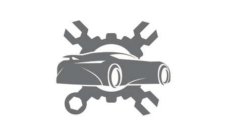 power wrench: Car Gear Wrench Logo