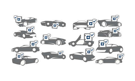 Car Secure Set Collections Illustration