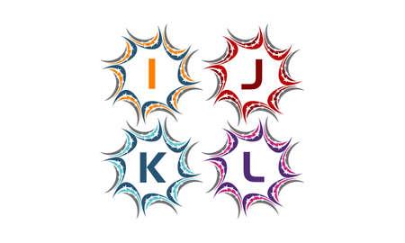 Star Swoosh Solution Initial I J K L