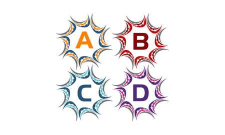 Star Swoosh Solution Initial A B C D