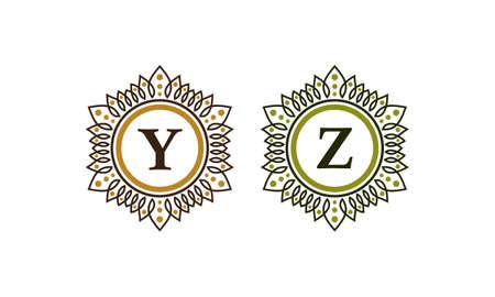 Emblem Initial Y Z Illustration