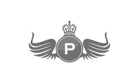 Wing Shield Crown Initial P