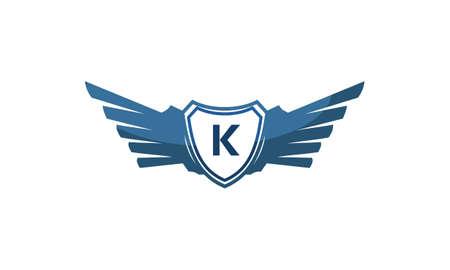 Wing Shield Initial K