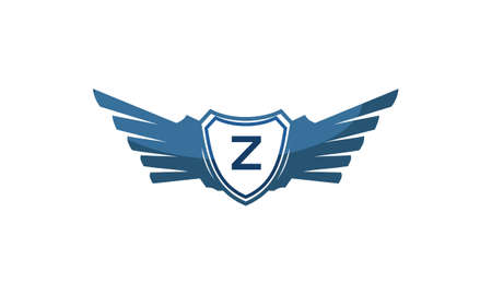 Wing Shield with letter Z design.