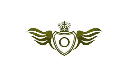 Wing Shield Crown Initial O.