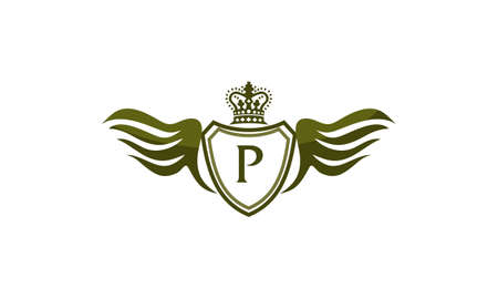 Wing Shield Crown Initial P.