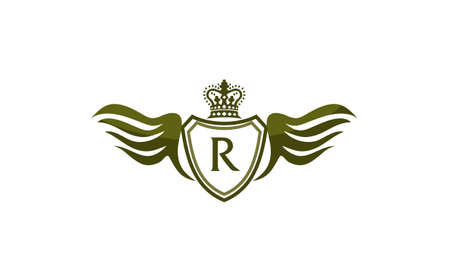 Wing Shield Crown Initial R.