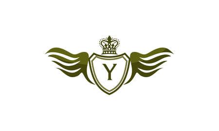 Wing Shield Crown Initial Y
