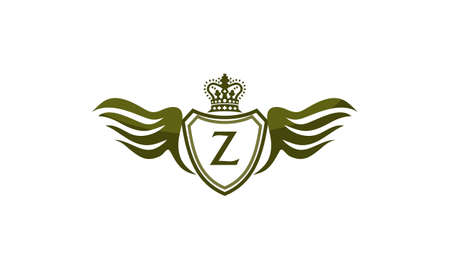 Wing Shield Crown Initial Z Illustration