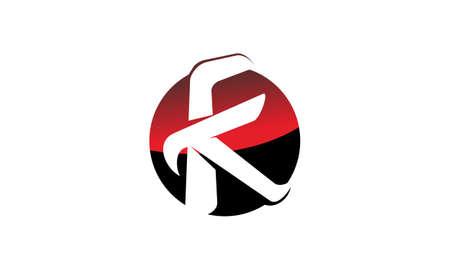 Modern solution letter K on white background, vector illustration.