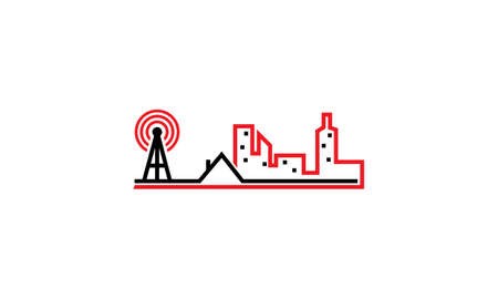 3g: Internet signal cityscape Illustration