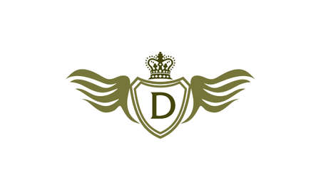 Wing Shield Crown Initial D Ilustracja