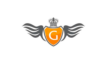 aigle royal: Wing Shield Crown Initial G
