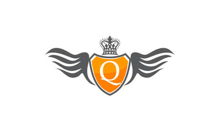 Wing Shield Crown Initial Q
