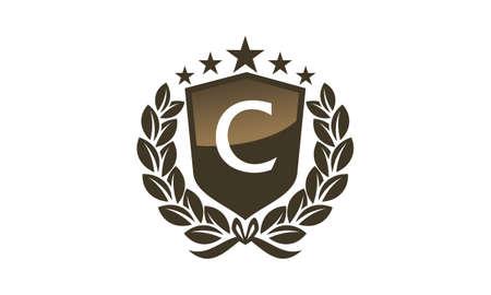 Royal VIP Shield Leaf Initial C