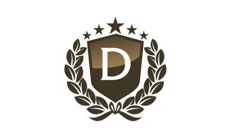 Royal feuille standard feuille initiale de Banque d'images - 89180242