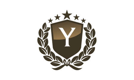 Royal VIP Shield with leaves and letter Y