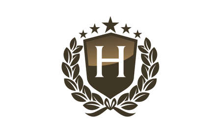 Royal VIP Shield with leaves and letter H