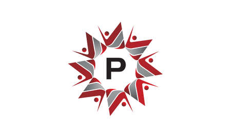 Coaching success continuity initial P icon. Illustration