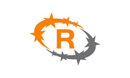 Letter R icon design. Illustration