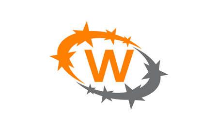 Swoosh Success Coaching Initial W. Illustration