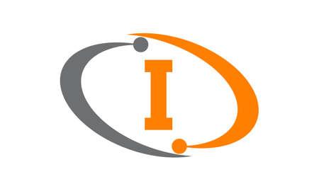 Capital letter I icon concept.