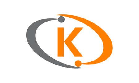 Capital letter K icon concept.