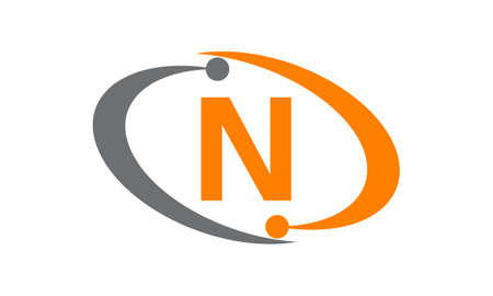 Capital letter N icon concept. Illustration