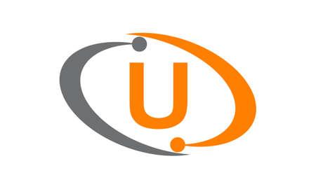 Technology Solutions Initial U logo Illustration