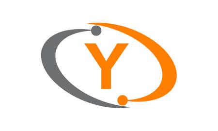 Uppercase letter Y icon concept design. Illustration