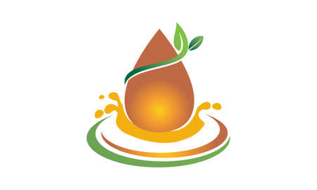 Leaf and Water Health icon.