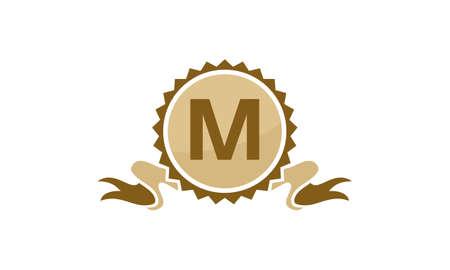 Letter M ribbon.