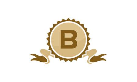 Letter B ribbon.