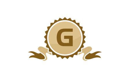 Letter G ribbon.