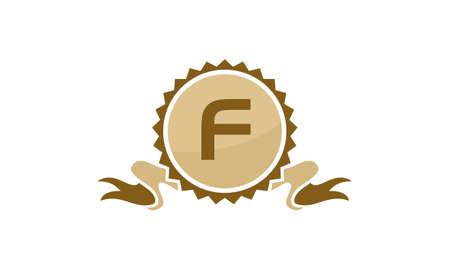 Letter F ribbon.
