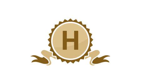 Letter H ribbon.