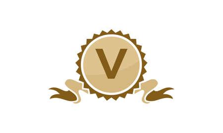 Best Quality Ribbon Letter V