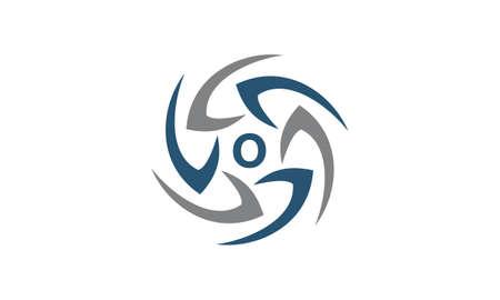 Rotation Arrow Process Plan Boomerang Letter O logo
