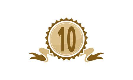 Best Quality Ribbon Number Ten logo