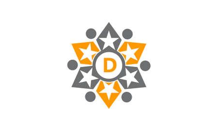 Success Life Coaching Letter D logo