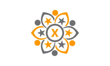 Success Life Coaching Letter X logo Illustration