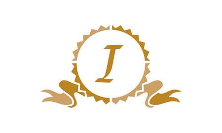 Quality Letter I logo Illustration